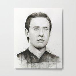 Data TNG Portrait Metal Print