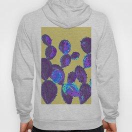 Cactus garden lilac mustard Hoody