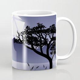 Violet Night Big D20 Dice Full Moon Tabletop RPG Landscape Coffee Mug