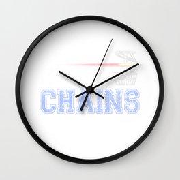 Bangin Chains Disc Golf Distressed Wall Clock