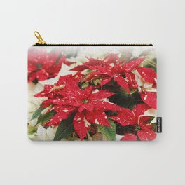 Shimmer Surprise Poinsettias Carry-All Pouch