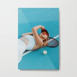 Tennis Match Metal Print