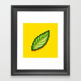 Pixel Leaf Framed Art Print