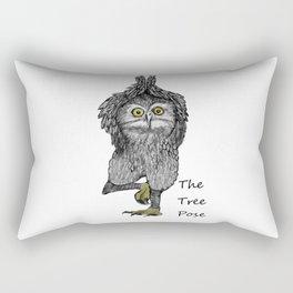 the tree pose Rectangular Pillow