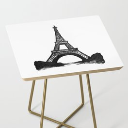 Eiffel Tower in Black Side Table