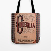 book cover Tote Bags featuring Cinderella Book Cover by proudcow
