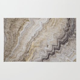 Hand Marbled Pattern Earth Colors Rug