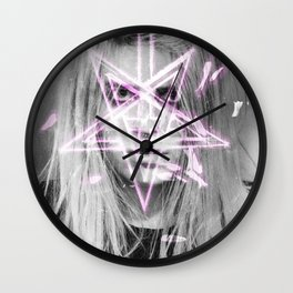 Unholy in Pink Wall Clock