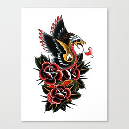Eagle serpent Canvas Print