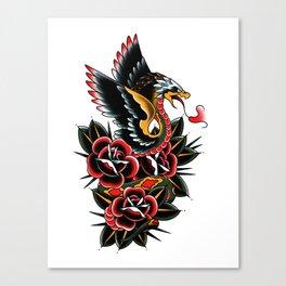Eagle serpent Canvas Print