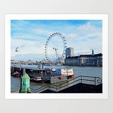 London Eye View Art Print