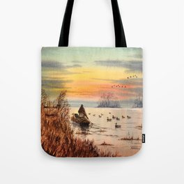A Great Day For Hunting Ducks Tote Bag