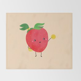 Strawberry cheers Throw Blanket