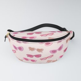 Cute Pink Fifties Sunglassses Pattern on a blush background Fanny Pack