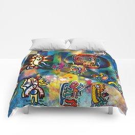 Kandinsky with Cool Monsters Street Art Comforters