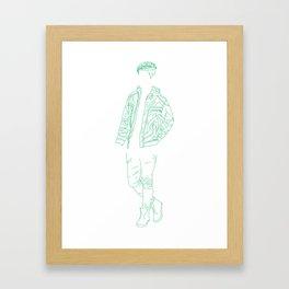 Boy Greeny Framed Art Print