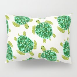 Sea Turtle – Green Palette Pillow Sham