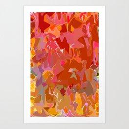 Peach Pink and Orange Art Print