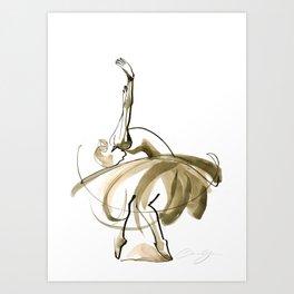 Ballet Dance Drawing Art Print