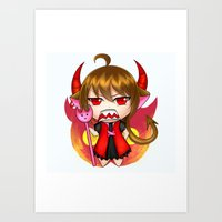 chibi Art Prints featuring chibi by rayka