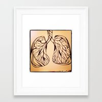 lungs Framed Art Prints featuring lungs by Fresh