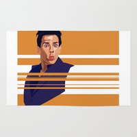 derek hale Area & Throw Rugs featuring Derek Zoolander by Megan Yiu