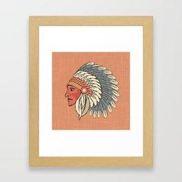The Big Feathered Head Framed Art Print