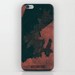 Wellington Map Red iPhone Skin