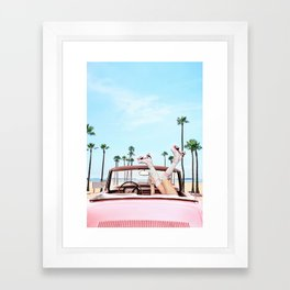 Long Beach Framed Art Print