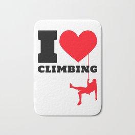 I love Climbing - Funny Climber Gift Bath Mat