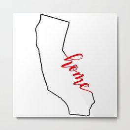 Home Sweet Home - California Metal Print
