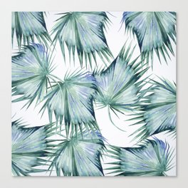 Floating Palm Leaves 2 Canvas Print