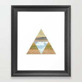 THREE EDGE PHYSICAL WORLD Framed Art Print