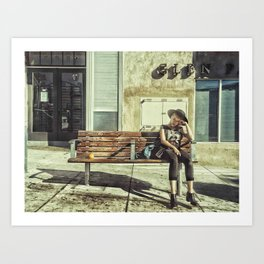 Waiting game Art Print