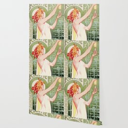 Art Nouveau Absinthe Robette Ad Wallpaper