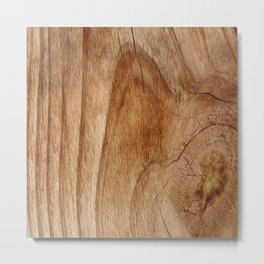 Natural Wood Texture for Wood Artworks Lovers. Metal Print