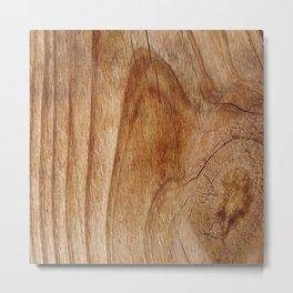 Natural Wood Texture for Wood Artworks Lovers. Metal Print