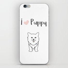 I love puppy iPhone Skin