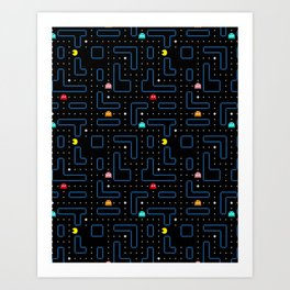 Pac-Man Retro Arcade Gaming Design Art Print