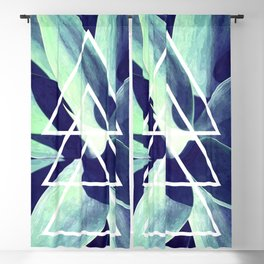 Triangle Blue Agave Blackout Curtain