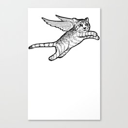 A flying cat Canvas Print