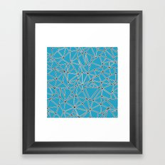 Shattered Ab Blue Framed Art Print