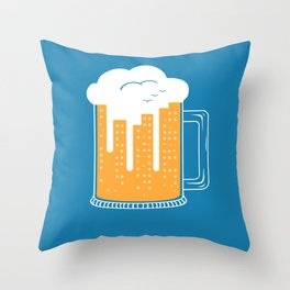 City Beer Throw Pillow