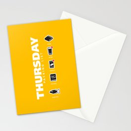 THURSDAY - The Hitchhiker's Guide to the Galaxy Packing List Stationery Cards