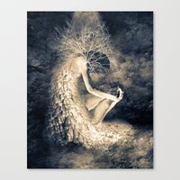 introvert Canvas Prints featuring introvert. by Viviana Gonzalez