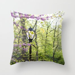 Spring in Central Park #2 Throw Pillow