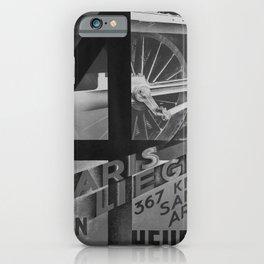 retro retro NORD Paris Liege poster iPhone Case