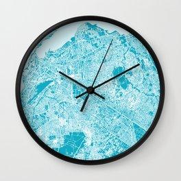 LUANDA Map Print - Angola   Aqua More Colors, Review My Collections Wall Clock