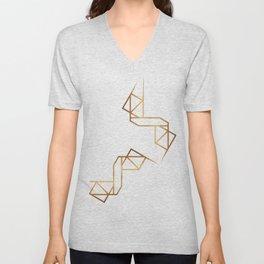 industrial golden glitters Unisex V-Neck