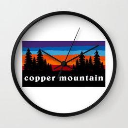 Copper Mountain Colorado Ski Snowboard Resort Skier Snowboarder Winter Park Gift Ideas Wall Clock